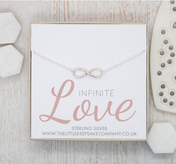 Sterling Silver Quote Necklace - 'Infinite Love'