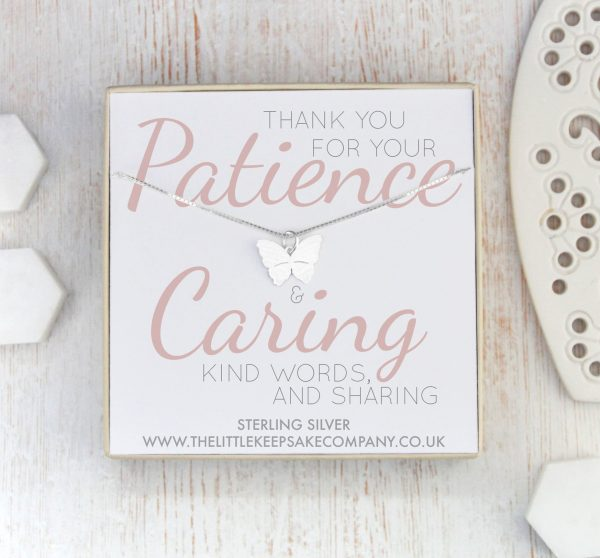 Sterling Silver Quote Necklace - 'Thank You For Your Patience'