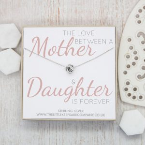 Sterling Silver Quote Necklace - 'The Love Between A Mother & Daughter'
