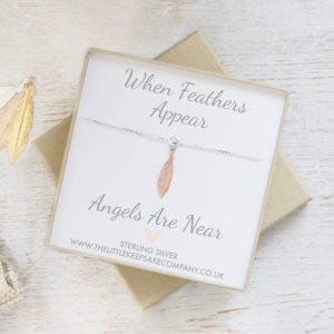 'When Feathers Appear' Bracelet - Mini Rose Gold Feather