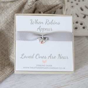 'When Robins Appear' Baby Robin Charm With Open Jump Ring