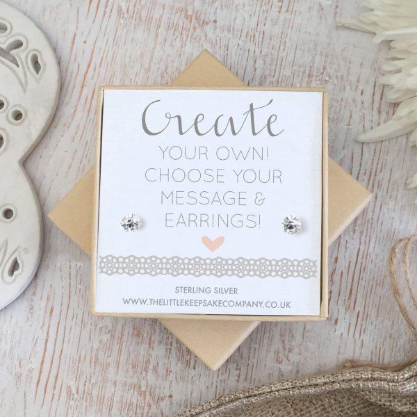 Create Your Own' Wedding Earrings - Cubic Zirconia Studs
