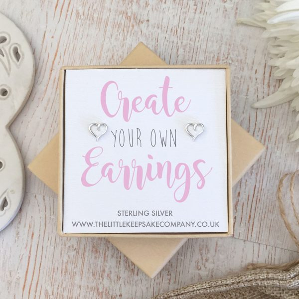 Create Your Own Gift Earrings - Cutout Heart