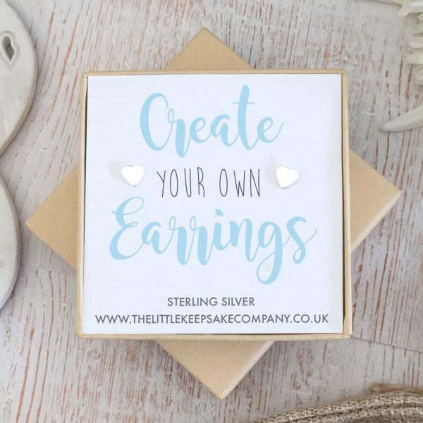 Create Your Own Gift Earrings - Heart