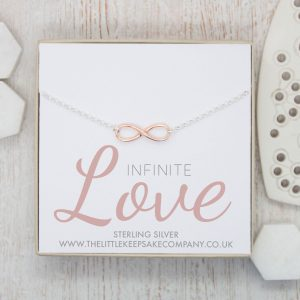 Rose Gold Quote Necklace - 'Infinite Love'