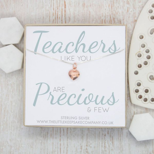 Rose Gold Quote Necklace - 'Teachers Like You'
