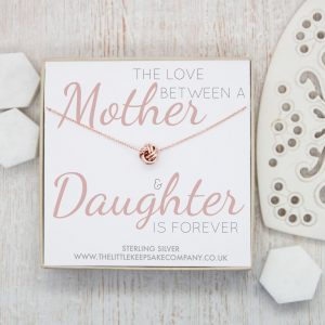 Rose Gold Quote Necklace - 'The Love Between A Mother & Daughter' Is Forever