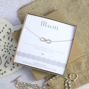 Rose Gold Wedding Necklace - 'Mum Thank You For Standing By My Side'