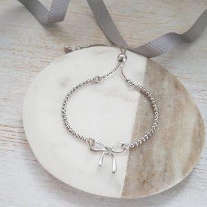Sterling Silver Bow Bracelet