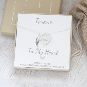 Sterling Silver 'Forever In My Heart' Memorial Necklace