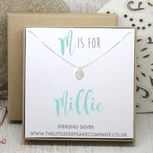 Sterling Silver Junior Initial Necklace