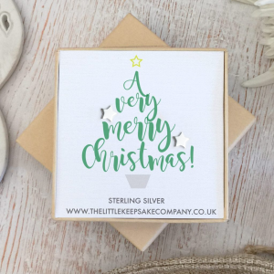 Sterling Silver Christmas Earrings - 'A Very Merry Christmas!'