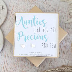 Sterling Silver Quote Earrings - 'Aunties Like You'