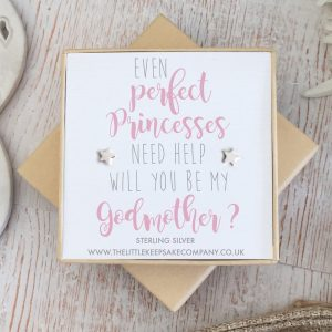 Sterling Silver Quote Earrings - 'Even Perfect Princesses Need Help'
