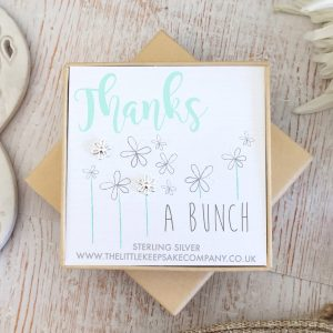 Sterling Silver Quote Earrings - 'Thanks A Bunch'