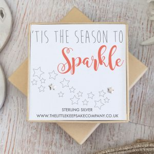 Sterling Silver Quote Earrings - 'Tis The Season To Sparkle'