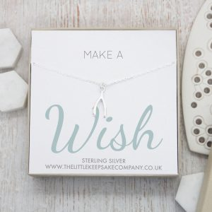 Sterling Silver Quote Necklace - 'Make A Wish'