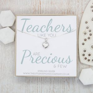 Sterling Silver Quote Necklace - 'Teachers Like You'