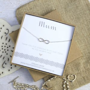 Sterling Silver Wedding Necklace - 'Mum Thank You For Standing By My Side'