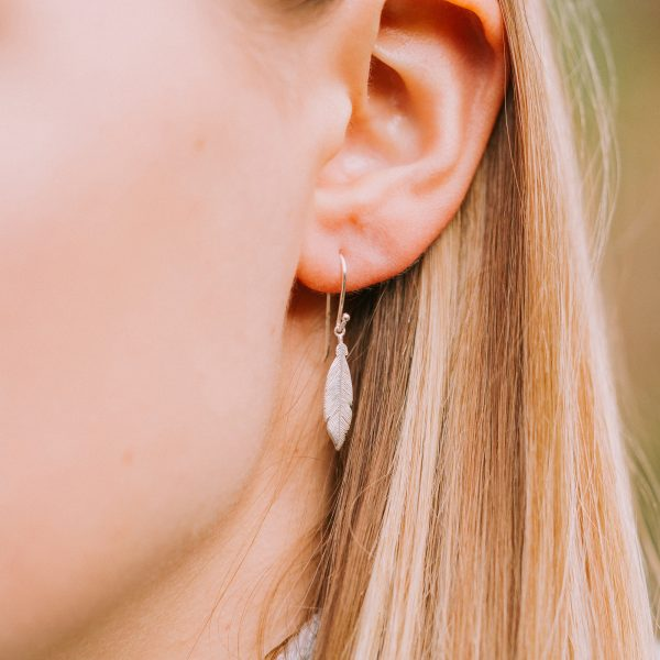 'When Feathers Appear' Earrings – Rose Gold Vermeil Feathers
