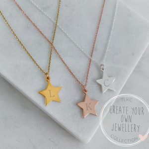 Create Your Own - Mini Star Initial Necklace