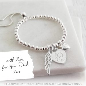 Sterling Silver Handwriting Memorial Bracelet