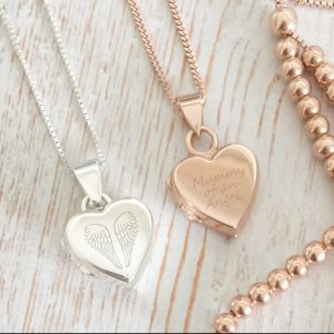 Silver Or Rose Gold Mummy Of An Angel Locket