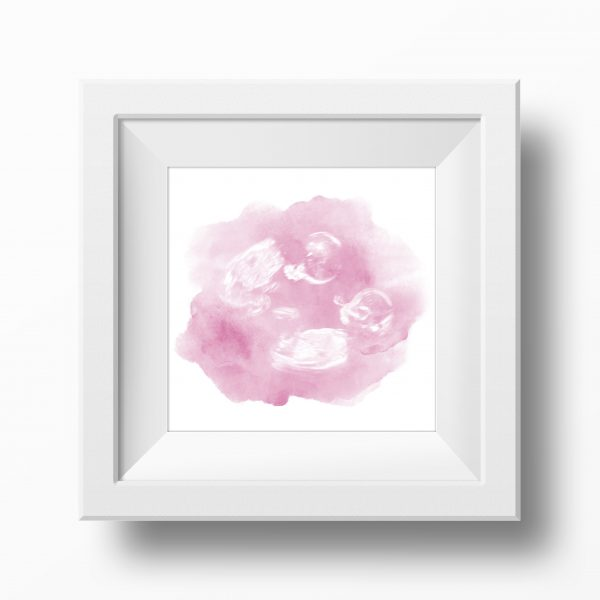 Pink Twin Baby Scan Watercolour Print