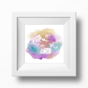 Rainbow Twin Baby Scan Watercolour Print