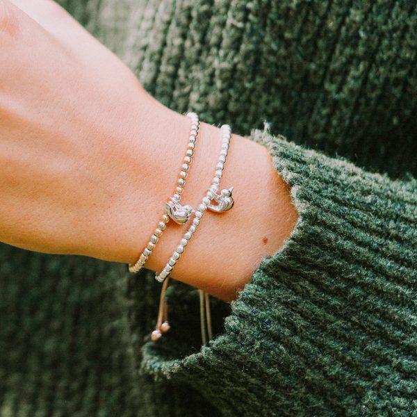 Robin Ball Slider Bracelets