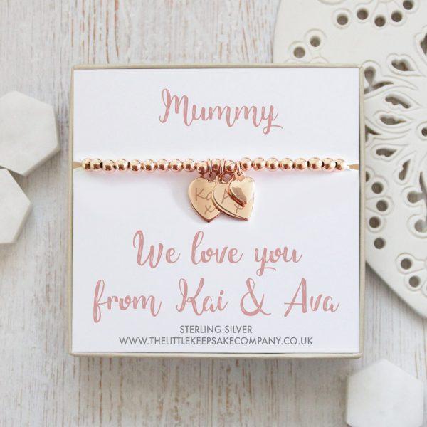 Rose Gold Personalised Gift Bracelet