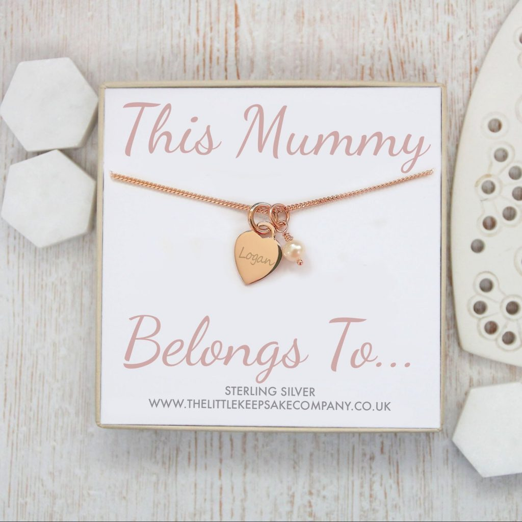Rose Gold Vermeil Engraved Necklace – 'This Mummy Belongs To…'