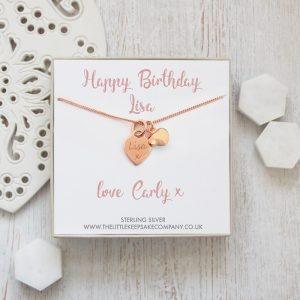 Rose Gold Vermeil Personalised Gift Necklace