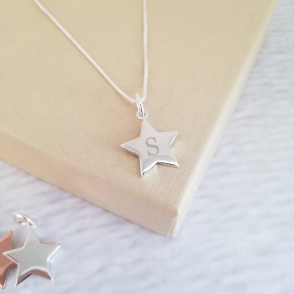Mini Star Initial Necklace