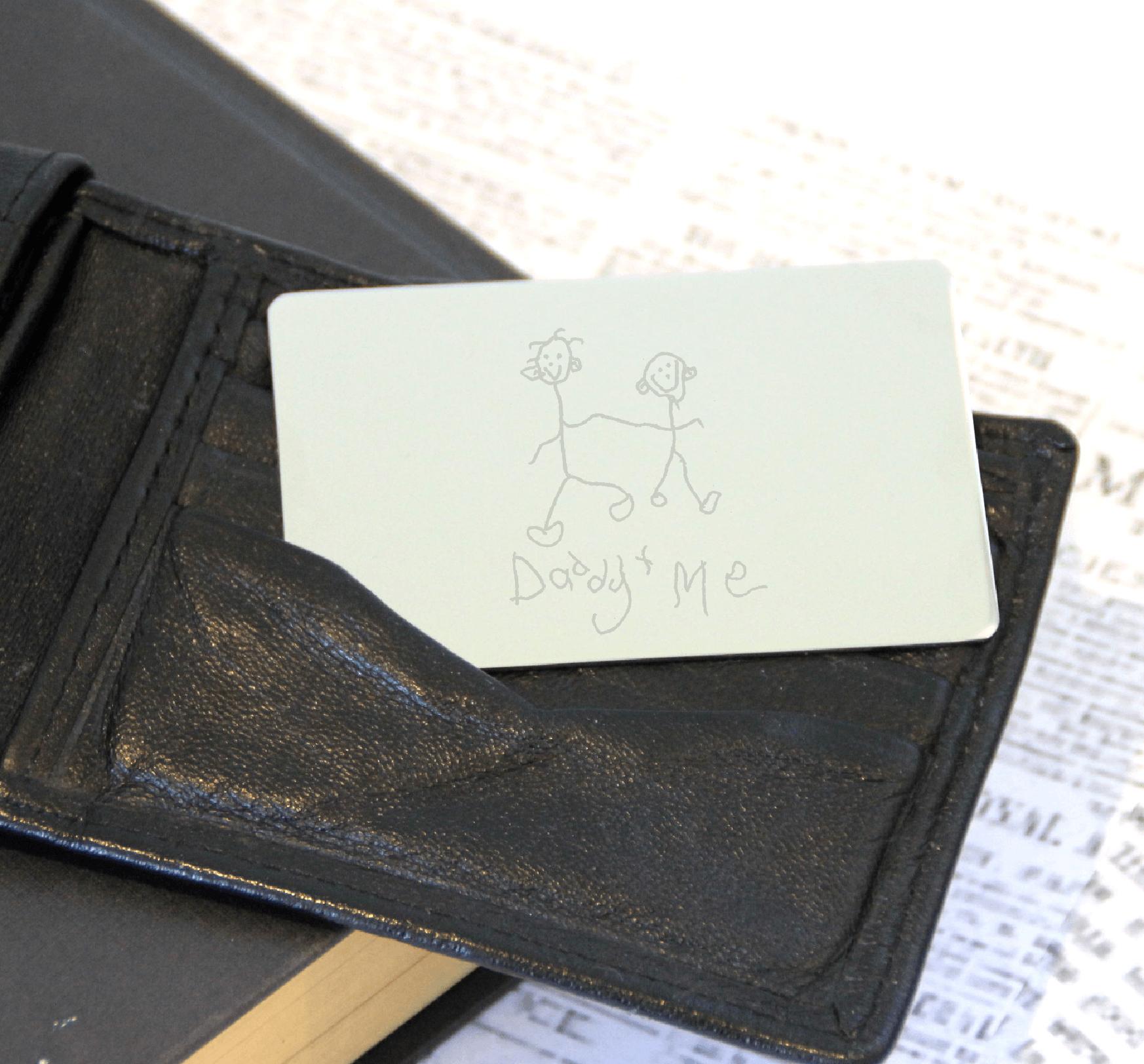Stainless Steel Engraved Artwork Wallet Card
