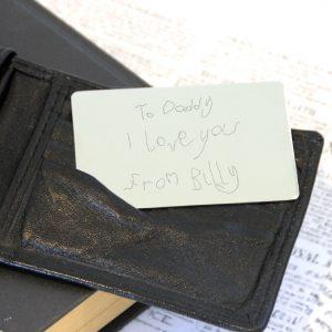 Stainless Steel Engraved Handwriting Wallet Card