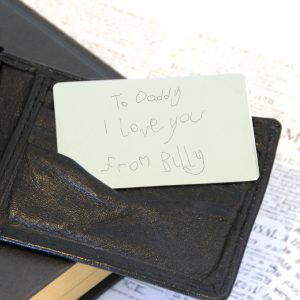 Stainless Steel Engraved Handwriting Wallet Card