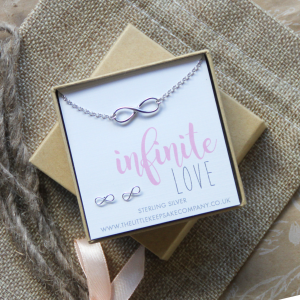 Sterling Silver 'Infinite Love' Necklace & Earring set