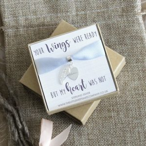 Sterling Silver 'Your Wings Were Ready' Bracelet Charm With Handwriting