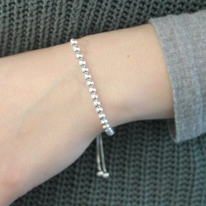 Sterling Silver Ball Slider Bracelet