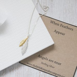 Sterling Silver Create Your Own Feather Necklace