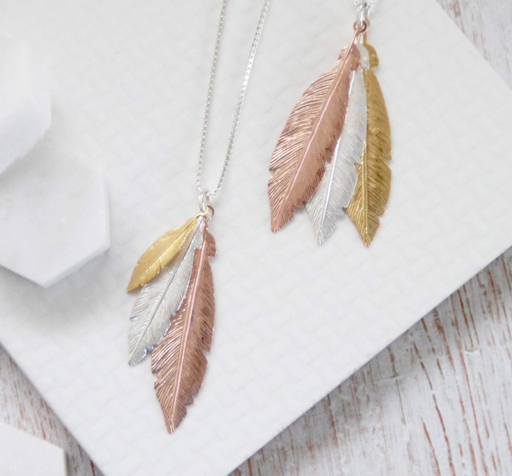 Create Your Own 'When Feathers Appear' Sterling Silver Necklace