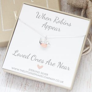 Sterling Silver Create Your Own 'When Robins Appear' Necklace