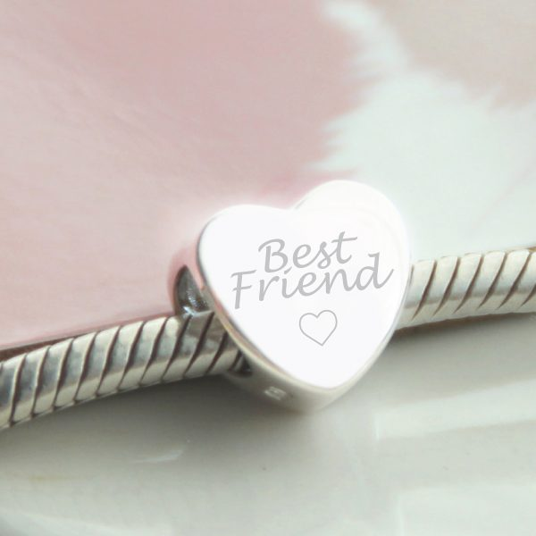 Sterling Silver Engraved 'Best Friend' Bead