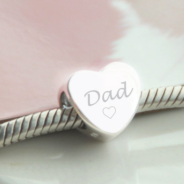 Sterling Silver Engraved 'Dad' Bead