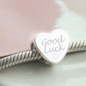 Sterling Silver Engraved 'Good Luck' Bead