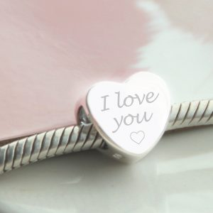 Sterling Silver Engraved 'I Love You' Bead