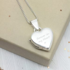 Sterling Silver Engraved 'Just Words' Heart Locket