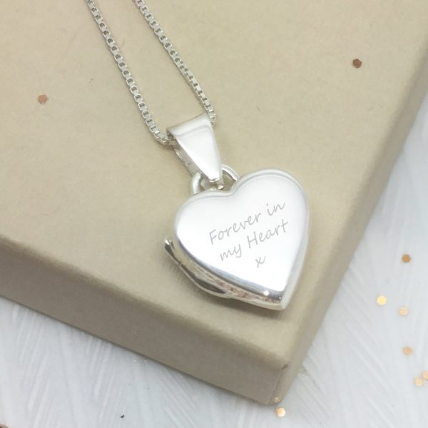 Sterling Silver Engraved 'Just Words' Heart Locket