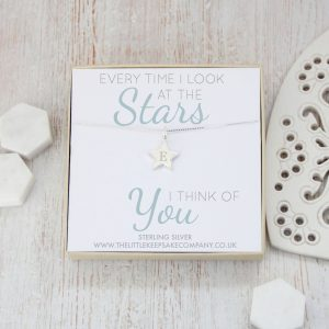 Sterling Silver Engraved Mini Star Necklace - 'Every Time I Look At The Stars'